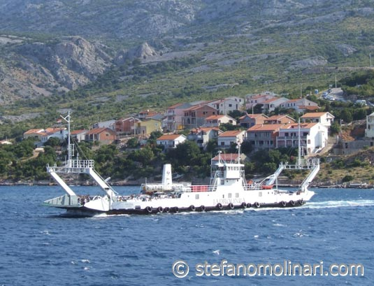 Ferry Pag Prizna - Pag Island - Kroatien
